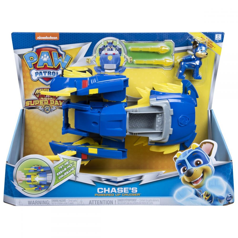 Paw Patrol Power Changing Vhicles, Chase's Powered Up Cruiser